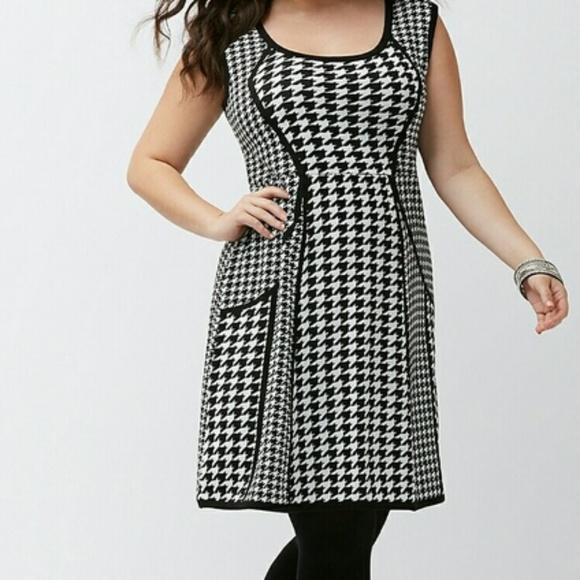 59f304600c9 Lane Bryant Dresses   Skirts - Lane Bryant Houndstooth Sweater Dress